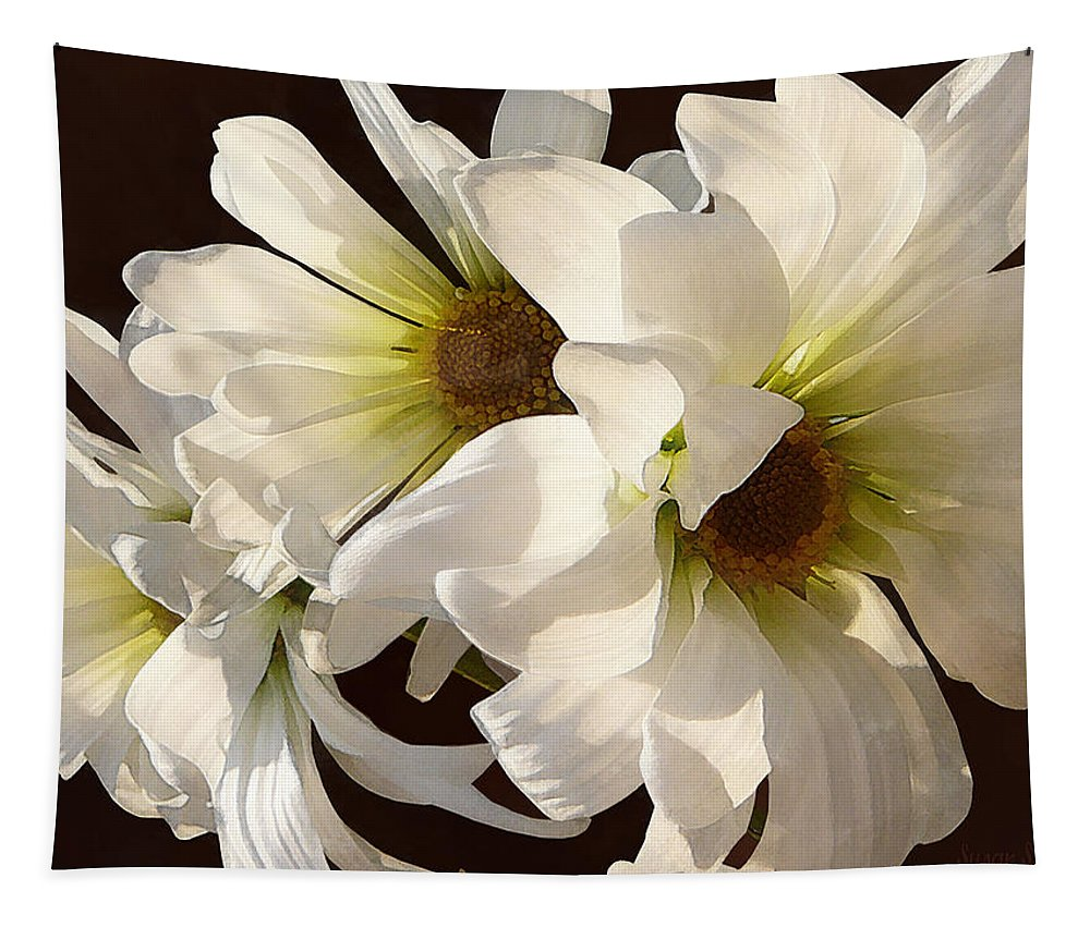 Daisy Tapestry featuring the photograph White Daisies In Sunshine by Susan Savad