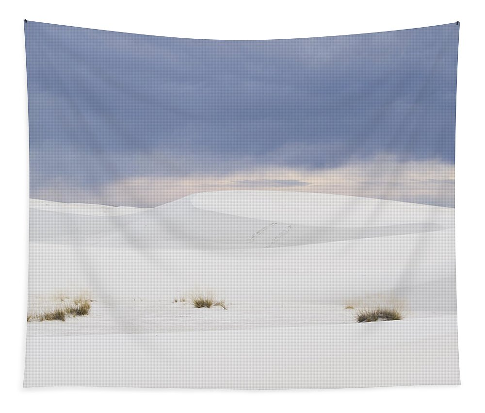 White Sandsjean Noren Tapestry featuring the photograph White Sands Cloudy Sunset by Jean Noren