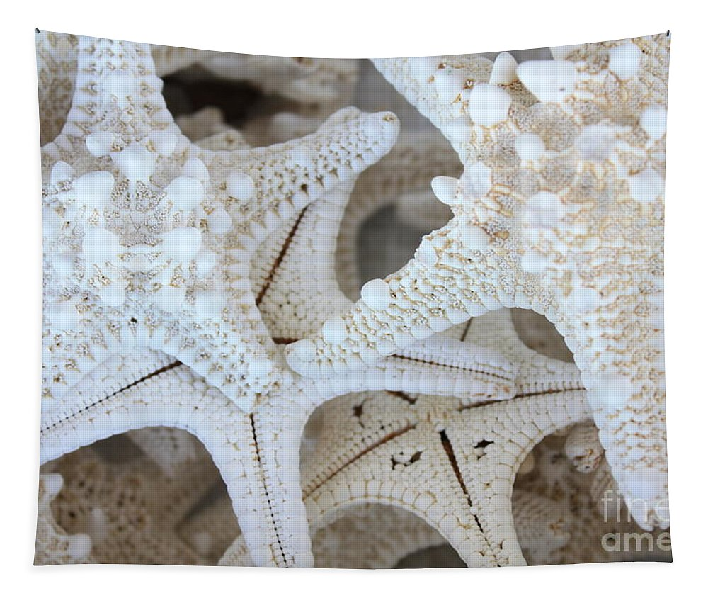 White Tapestry featuring the photograph White Starfish by Carol Groenen