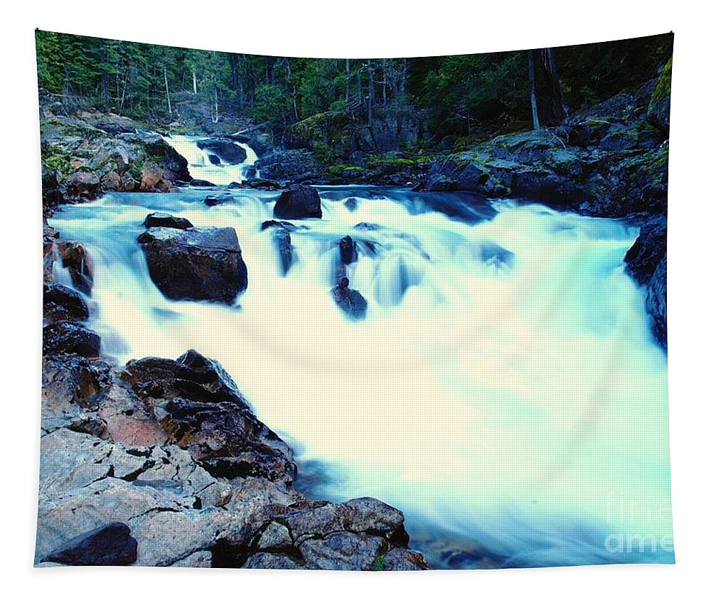 Water Tapestry featuring the photograph White Water On The Ohanapecosh River by Jeff Swan