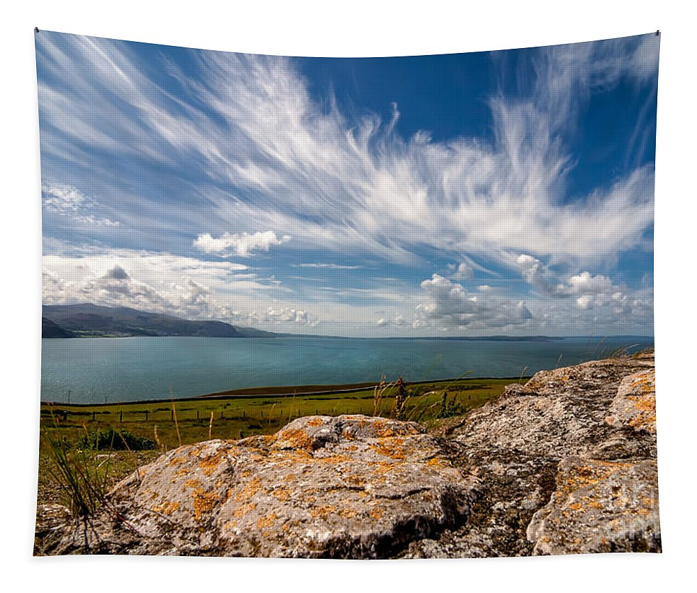 Anglesey Tapestry featuring the photograph Wild Clouds by Adrian Evans