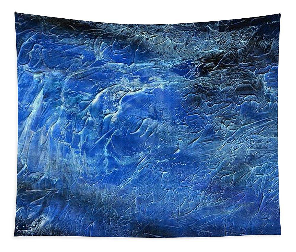 Wild Tapestry featuring the painting Wild Wild Sea by Hakon Soreide