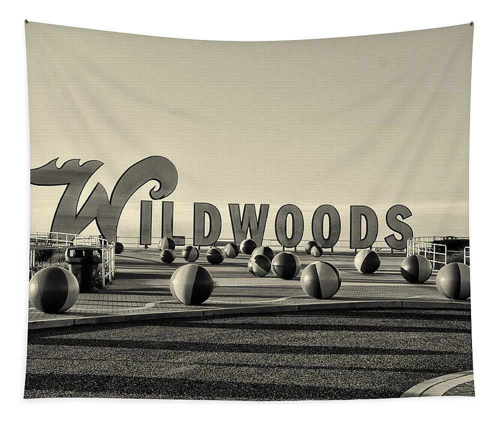 Wildwoods In Sepia Tapestry featuring the photograph Wildwoods In Sepia by Bill Cannon