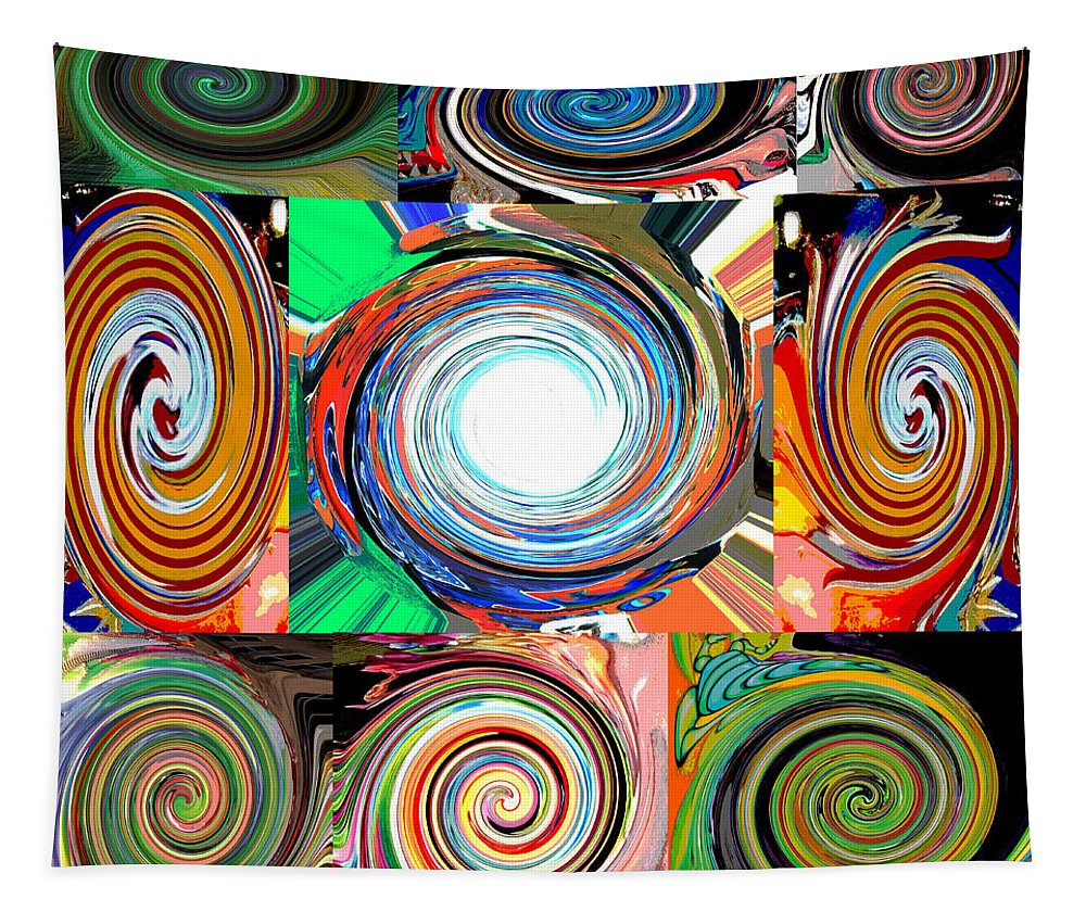 Computer Graphics Tapestry featuring the photograph Will It Go 'round In Circles by Marian Bell