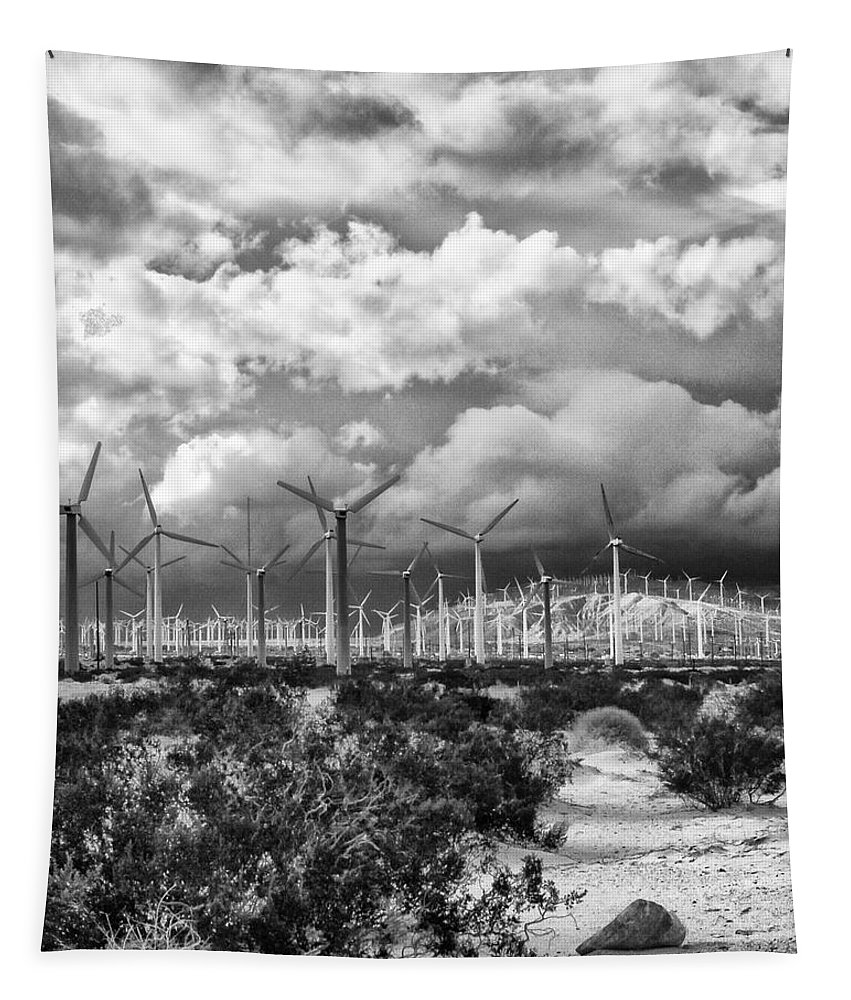 Windmills Tapestry featuring the photograph Wind Dancer Palm Springs by William Dey