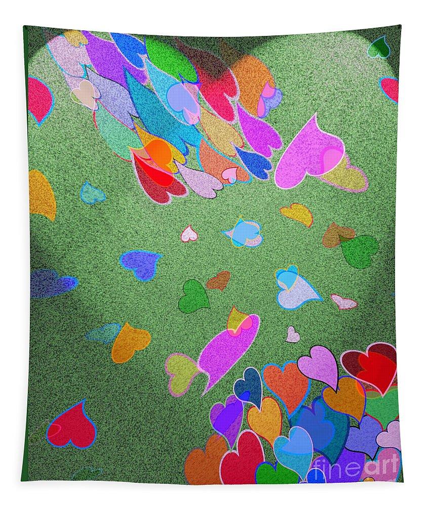 Art Tapestry featuring the digital art Windblown by Linda Galok