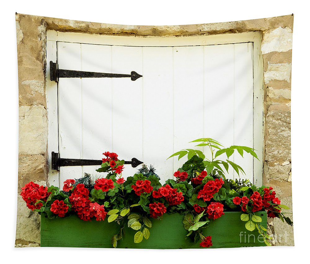 Flowers Tapestry featuring the photograph Window Box 2 by Paul W Faust - Impressions of Light