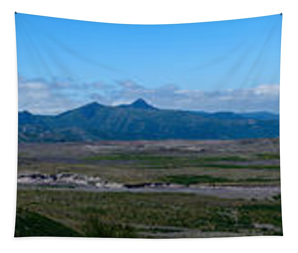Panoramic Tapestry featuring the photograph Windy Ridge View by Tikvah's Hope