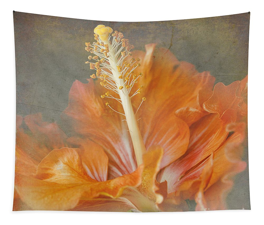 Tropical Hibiscus Tapestry featuring the photograph Winged Surprises by Sharon Mau