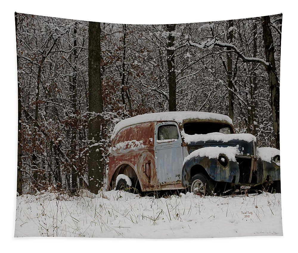Car Tapestry featuring the photograph Winter Classic by Trish Tritz
