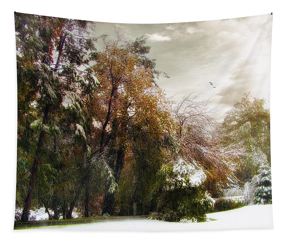 Snow Tapestry featuring the photograph Winter Foliage by Jessica Jenney