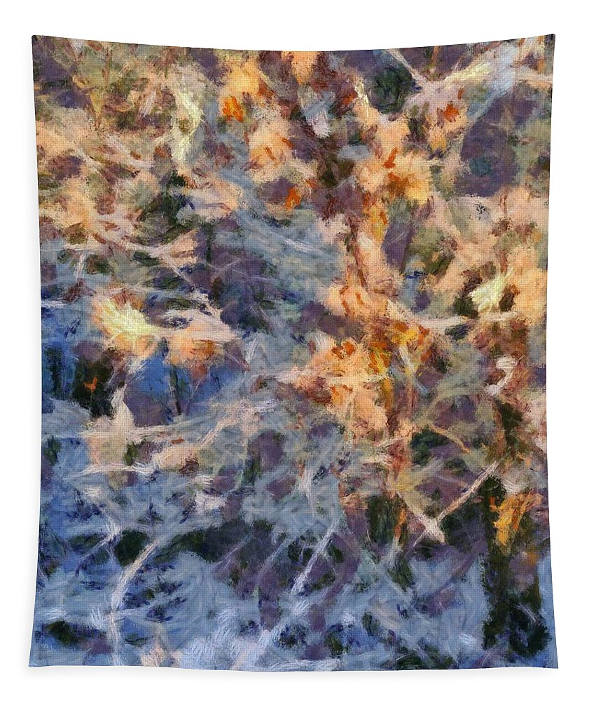 Winter Glory Tapestry featuring the painting Winter Glory by Dan Sproul