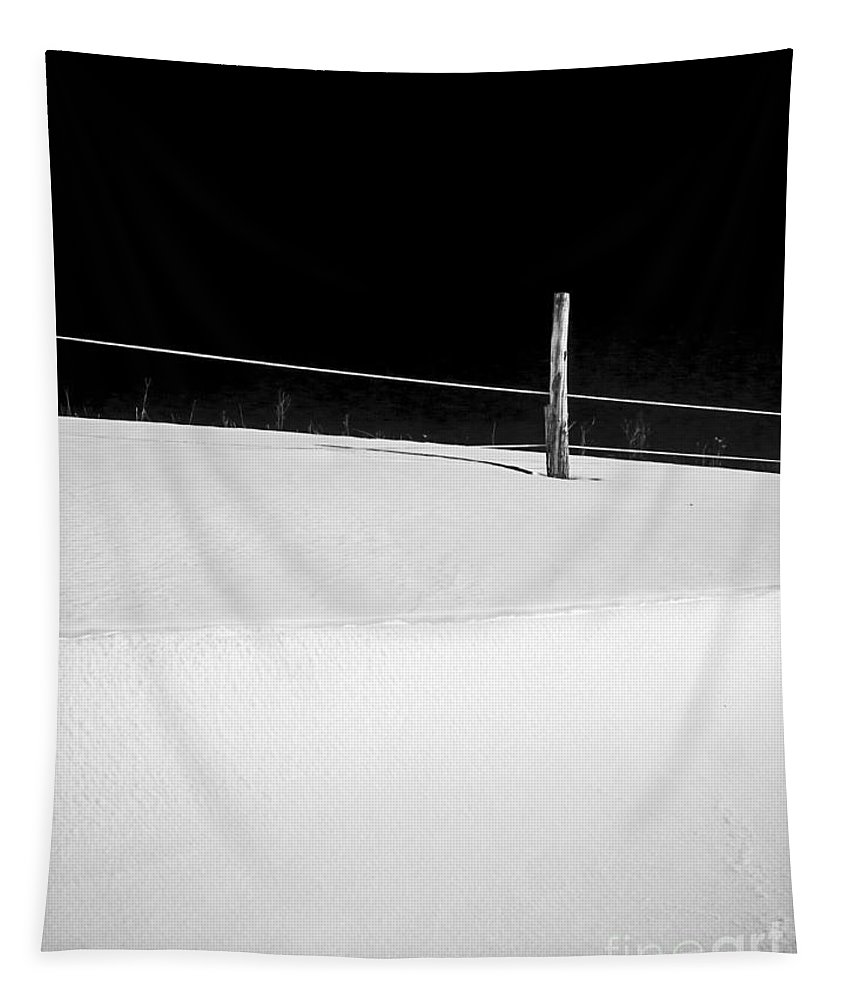 Black Tapestry featuring the photograph Winter Minimalism Black And White by Edward Fielding