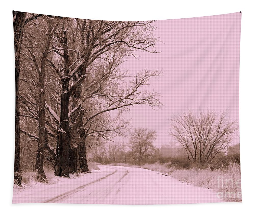 Winter Tapestry featuring the photograph Winter Pink by Carol Groenen