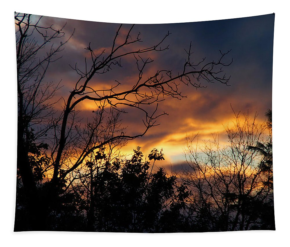 Rogue Valley Tapestry featuring the photograph Winter Sunset In The Rogue Valley by Mick Anderson