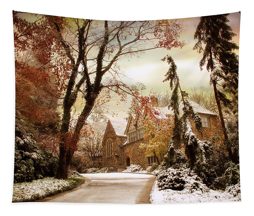 Home Tapestry featuring the photograph Winter's Entrance by Jessica Jenney