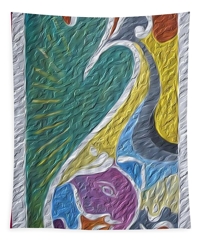 Root Of Universe Tapestry featuring the painting Wisdom And Peace I by Sonali Gangane