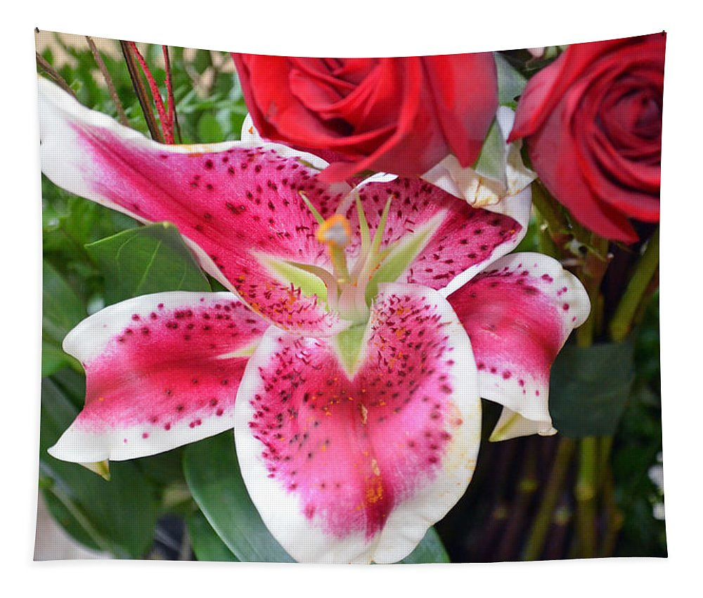 Lilly Tapestry featuring the photograph With All My Love by Tikvah's Hope