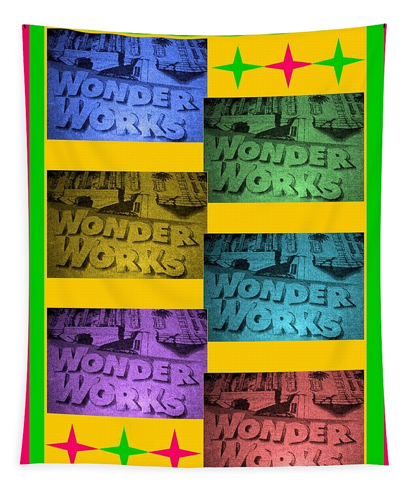 Computer Graphics Tapestry featuring the photograph Wonderworks by Marian Bell