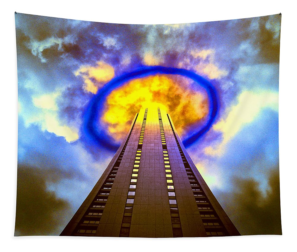 Wormhole Tapestry featuring the photograph Wormhole Generator 2 by Dominic Piperata