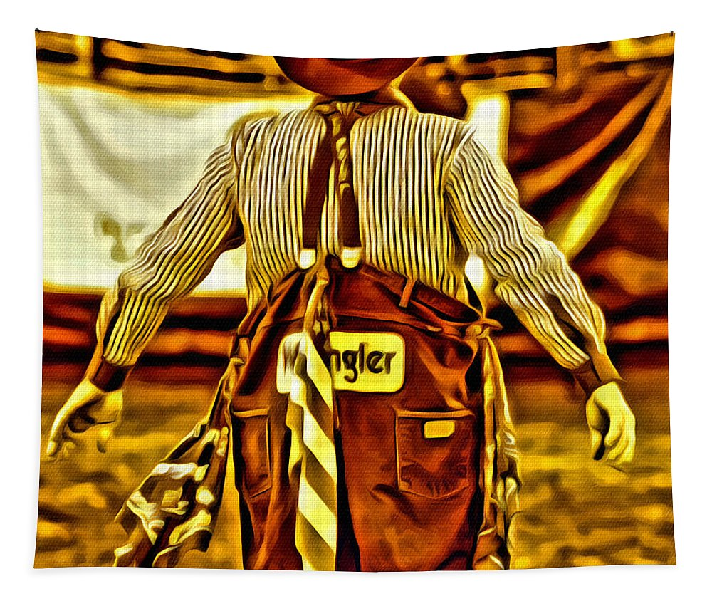 Rodeo Clown Tapestry featuring the photograph Wrangler Clown by Alice Gipson