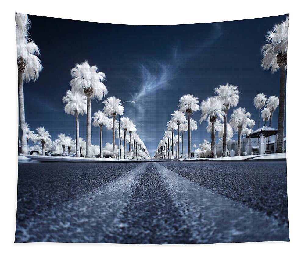 Infrared Tapestry featuring the photograph X by Sean Foster