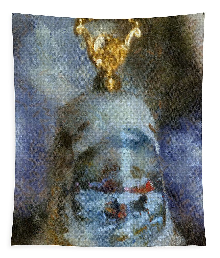 Bell Tapestry featuring the photograph Xmas Bell 02 Photo Art by Thomas Woolworth