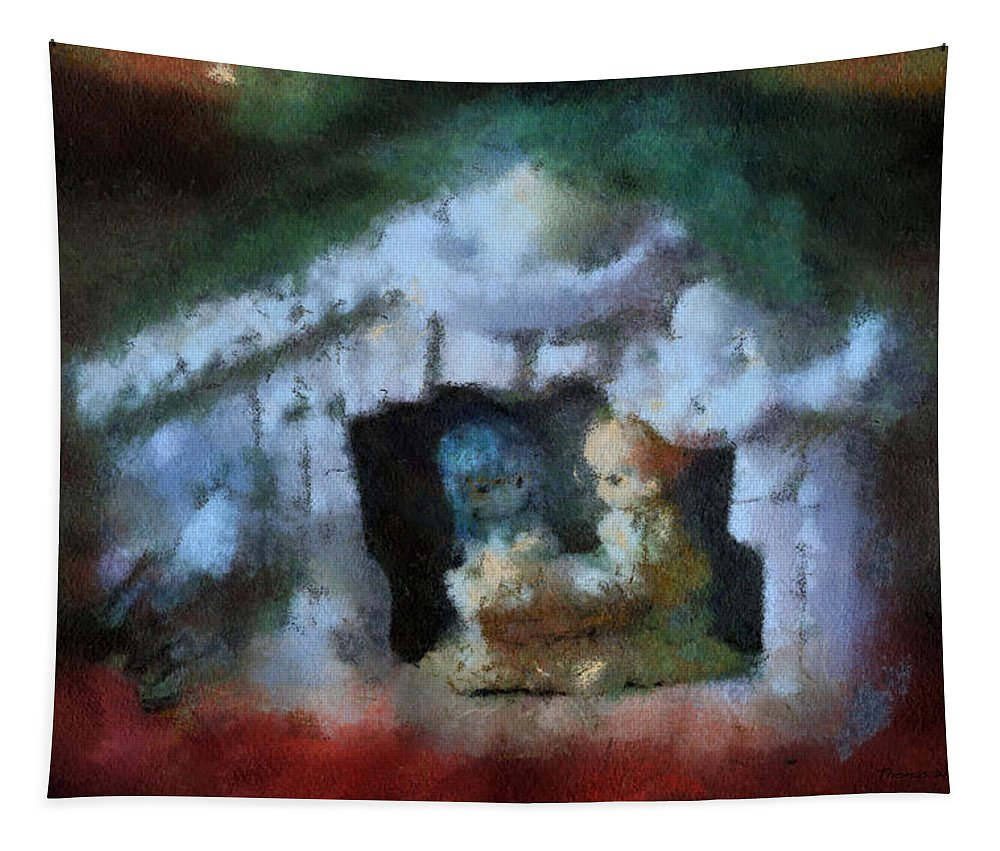 Xmas Tapestry featuring the photograph Xmas Nativity 03 Photo Art by Thomas Woolworth
