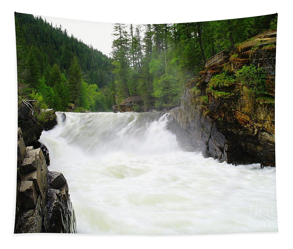 Water Tapestry featuring the photograph Yaak Falls by Jeff Swan
