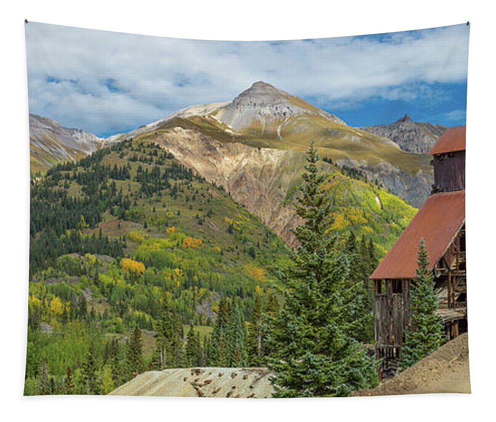 Photography Tapestry featuring the photograph Yankee Girl Silver Mine In Red Mountain by Panoramic Images