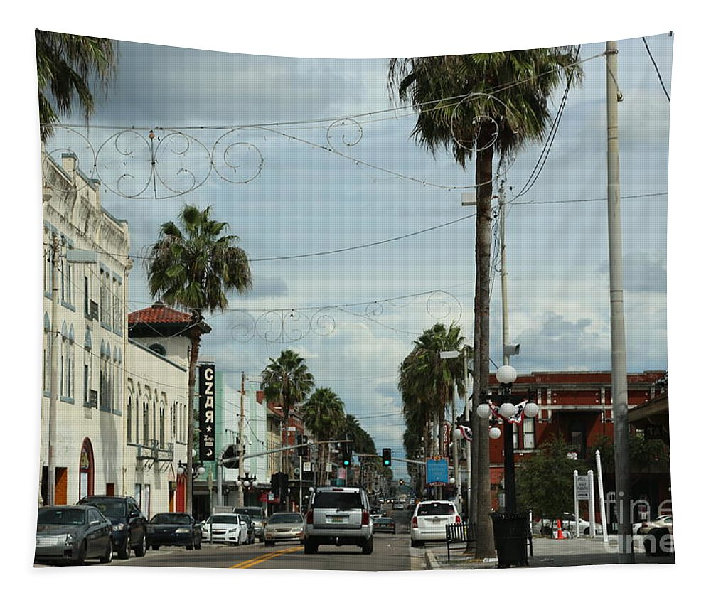 Ybor City Tapestry featuring the photograph Ybor City by Carol Groenen