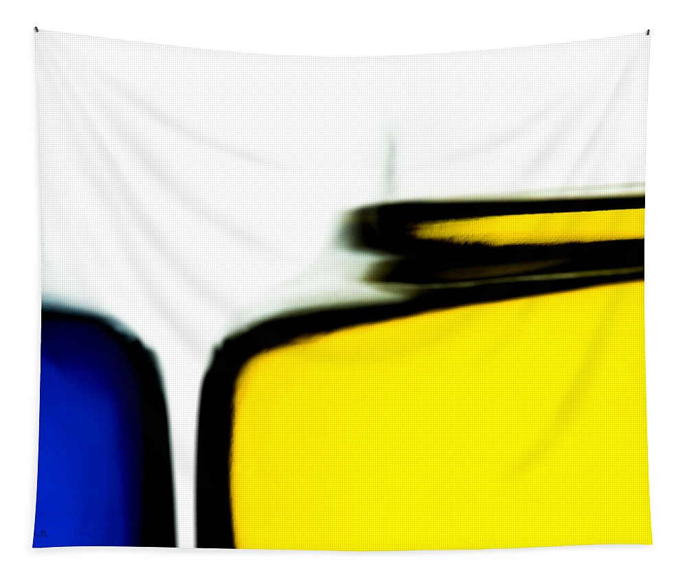 Abstract Tapestry featuring the photograph Yellow Blue by Bob Orsillo