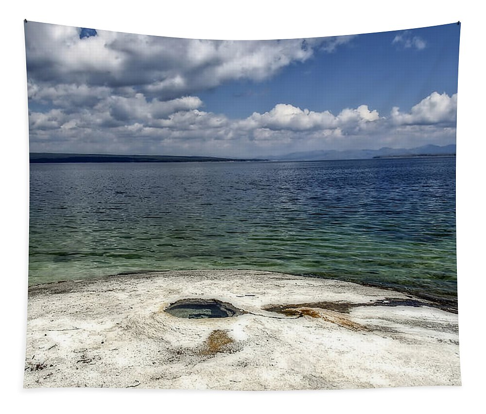 Yellowstone Tapestry featuring the photograph Yellowstone Lake by Mountain Dreams