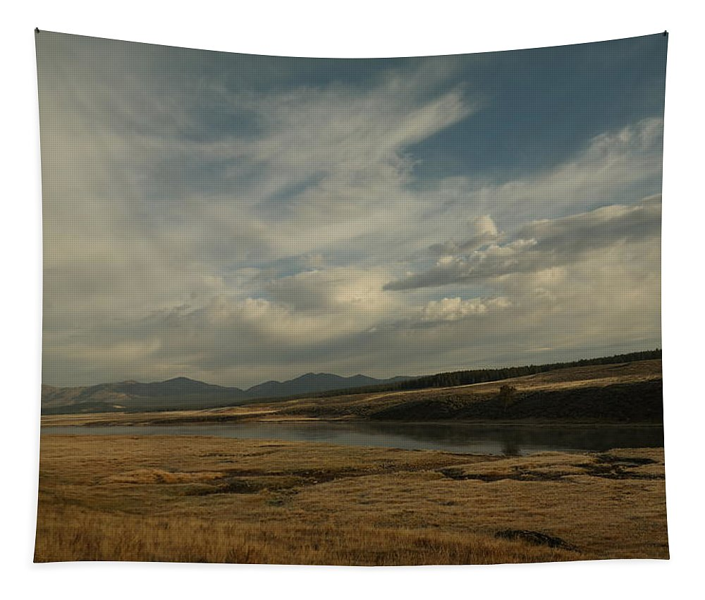 Rivers Tapestry featuring the photograph Yellowstone River by Jeff Swan