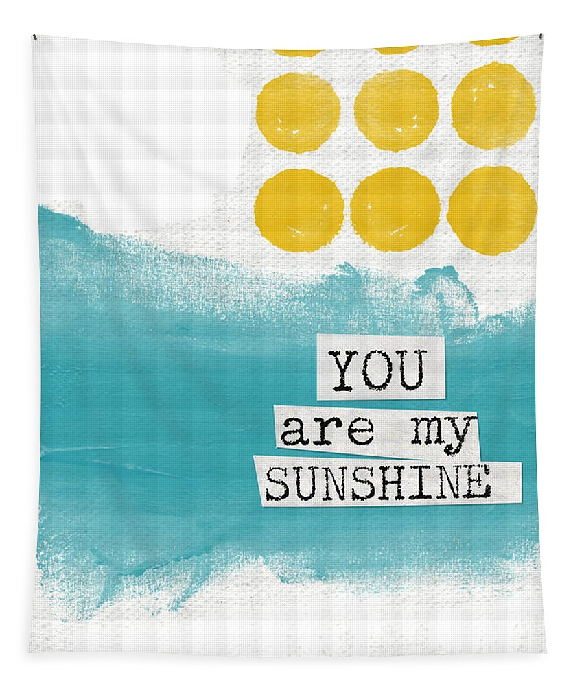 Love Tapestry featuring the painting You Are My Sunshine- abstract mod art by Linda Woods
