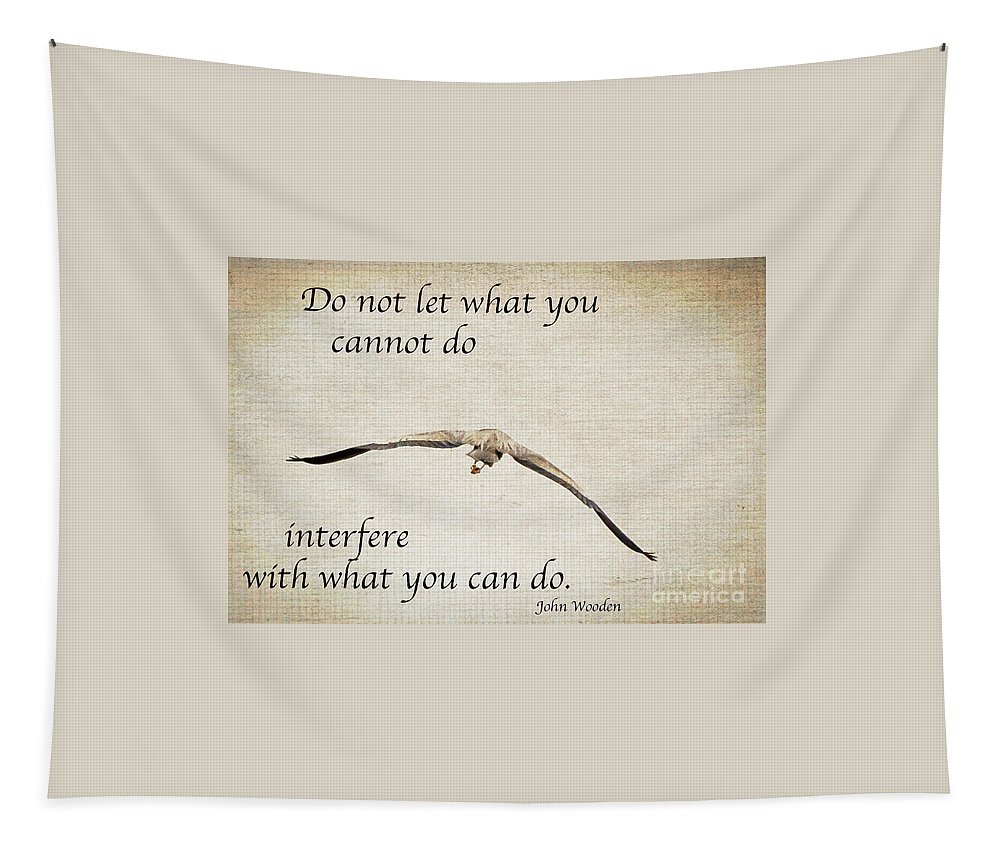 Inspirational Tapestry featuring the photograph You Can Do It by Kerri Farley