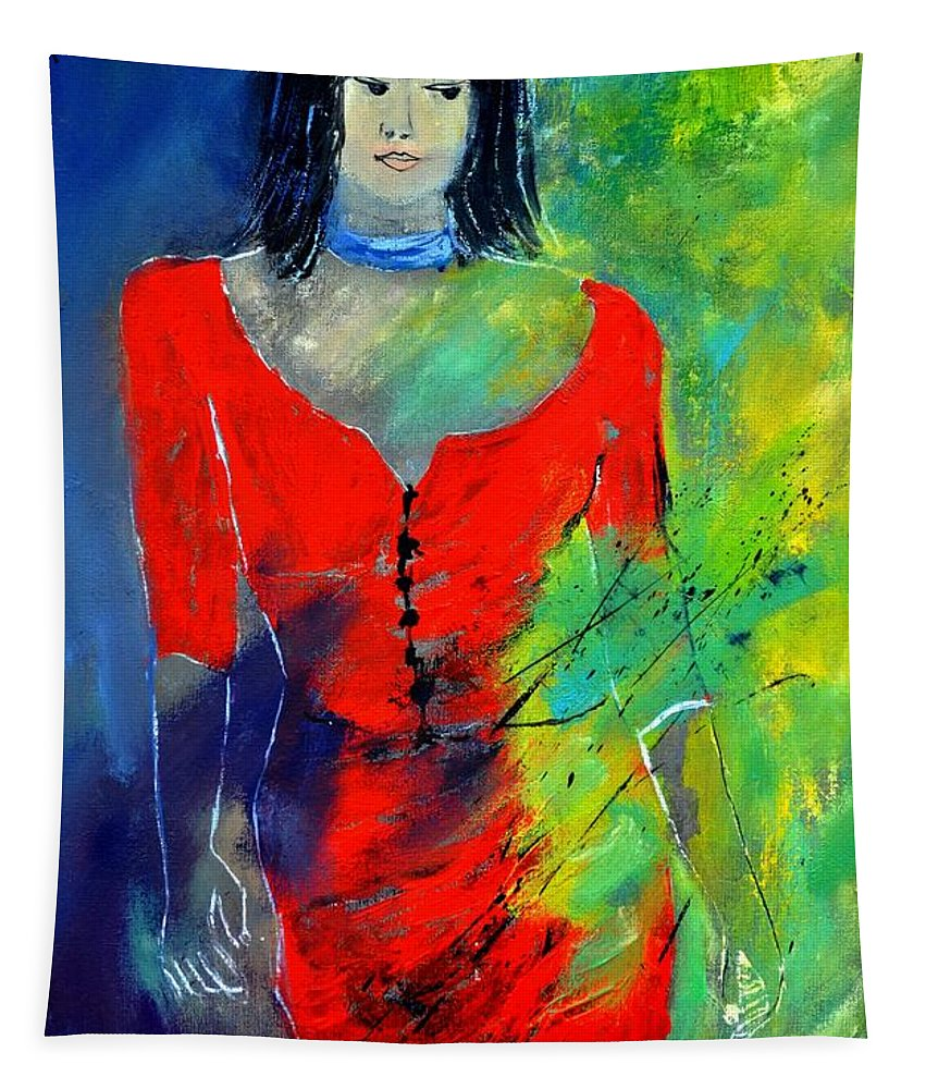 Figurative Tapestry featuring the painting Young Woman 6431 by Pol Ledent