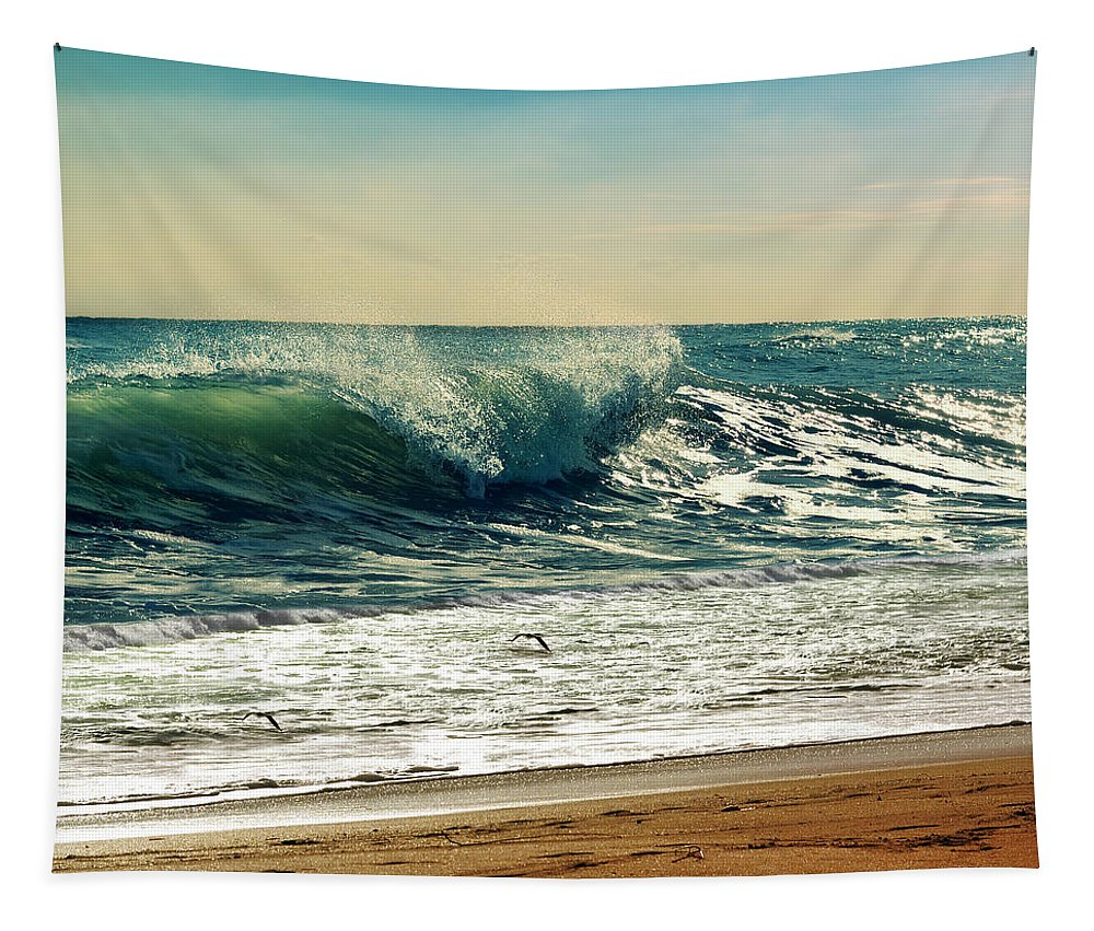 Waves Tapestry featuring the photograph Your Moment Of Perfection by Laura Fasulo