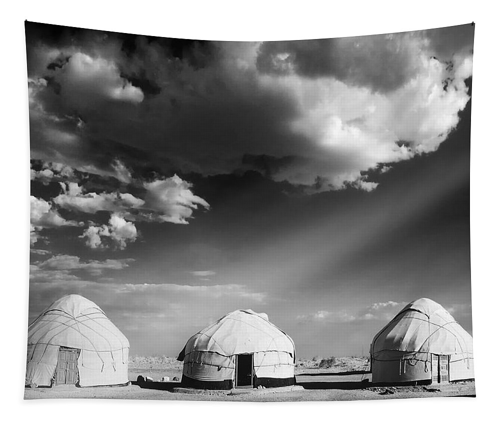 Yurts Tapestry featuring the photograph Yurts by Dominic Piperata