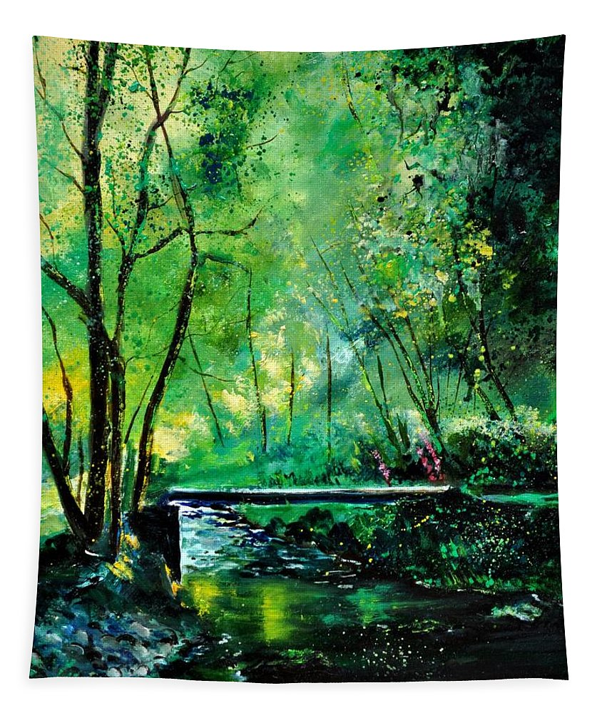 Landscape Tapestry featuring the painting Ywoigne 4531 by Pol Ledent