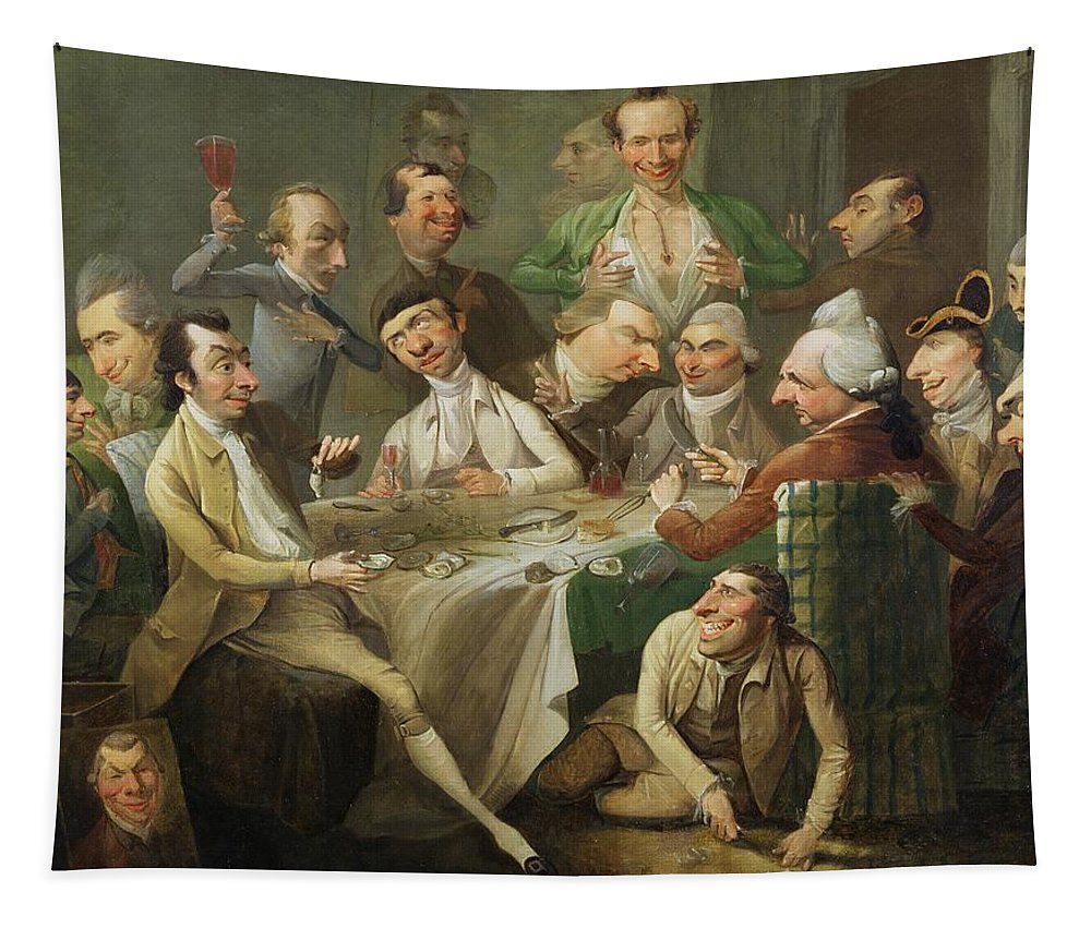 Xyc146046 Tapestry featuring the photograph A Caricature Group by John Hamilton Mortimer
