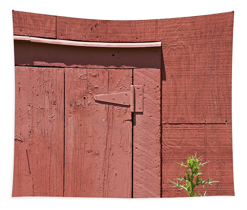 Americana Tapestry featuring the photograph Faded Red Wood Barn Wall by David Letts