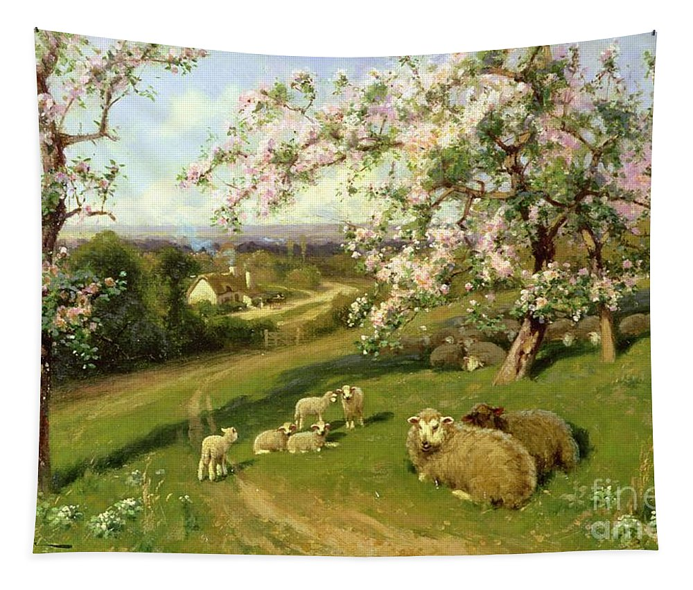 Spring Tapestry featuring the painting Spring - One Of A Set Of The Four Seasons by Arthur Walker Redgate