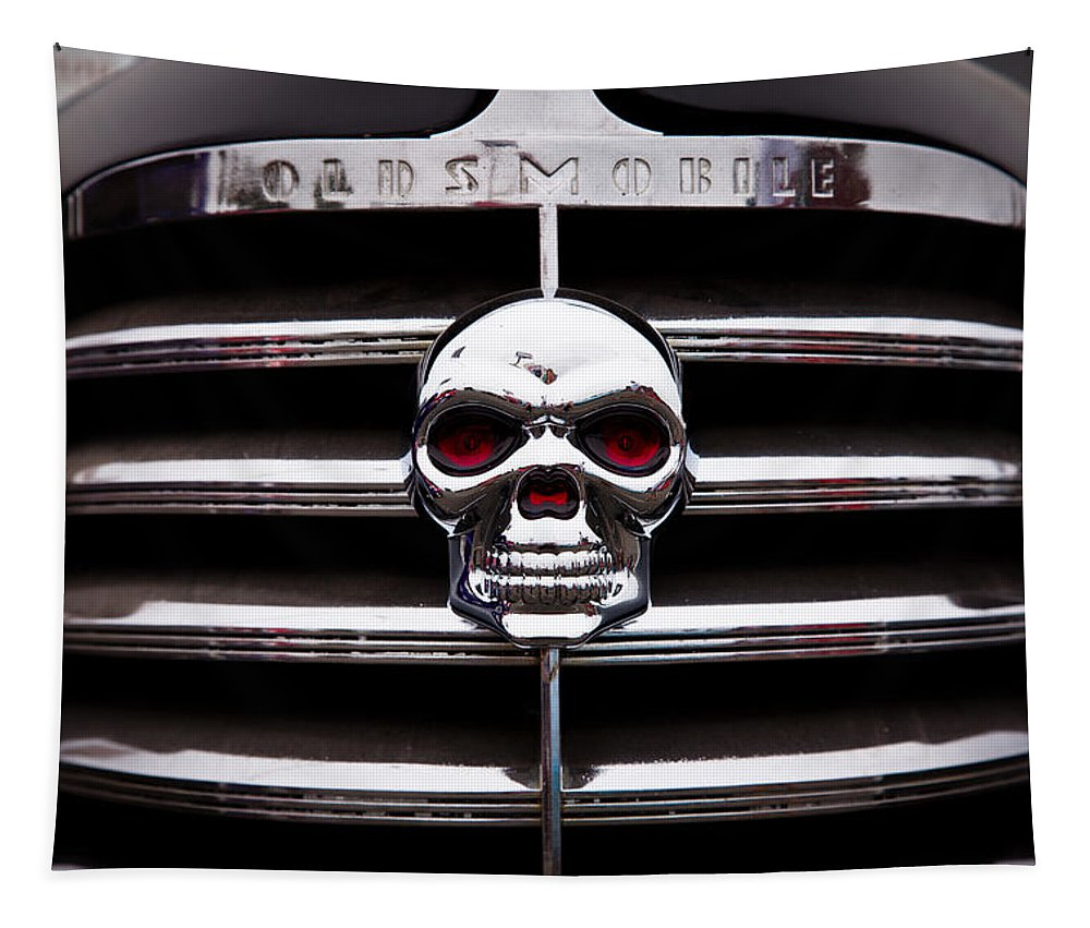 38 Tapestry featuring the photograph 1938 Oldsmobile Business Coupe by David Patterson