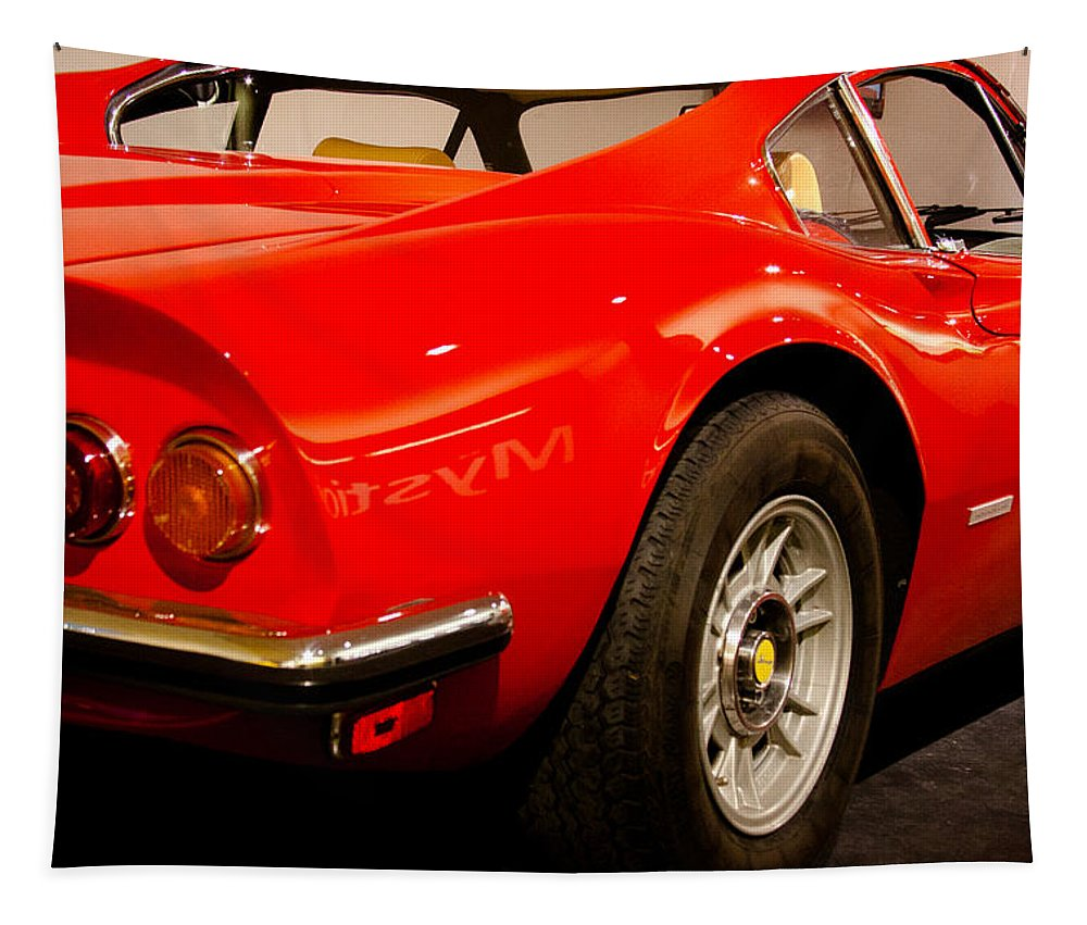 73 Tapestry featuring the photograph 1973 Ferrari Dino 246 Gt by David Patterson