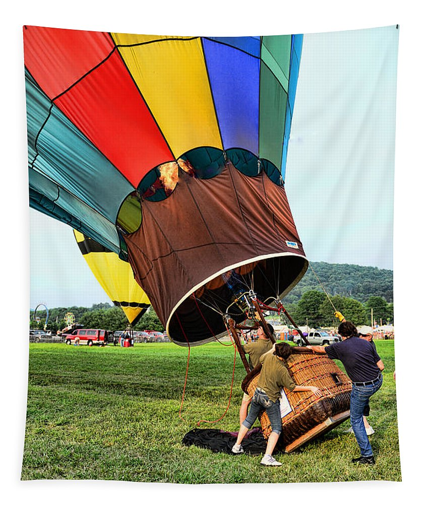 The Balloonist - Inside A Hot Air Balloon Tapestry featuring the photograph Balloonist - Ready For Takeoff by Paul Ward