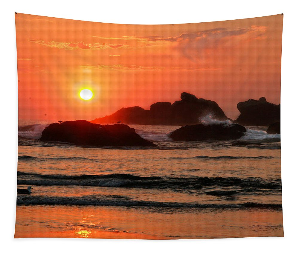 Scenic Tapestry featuring the photograph Bandon by Jean Noren