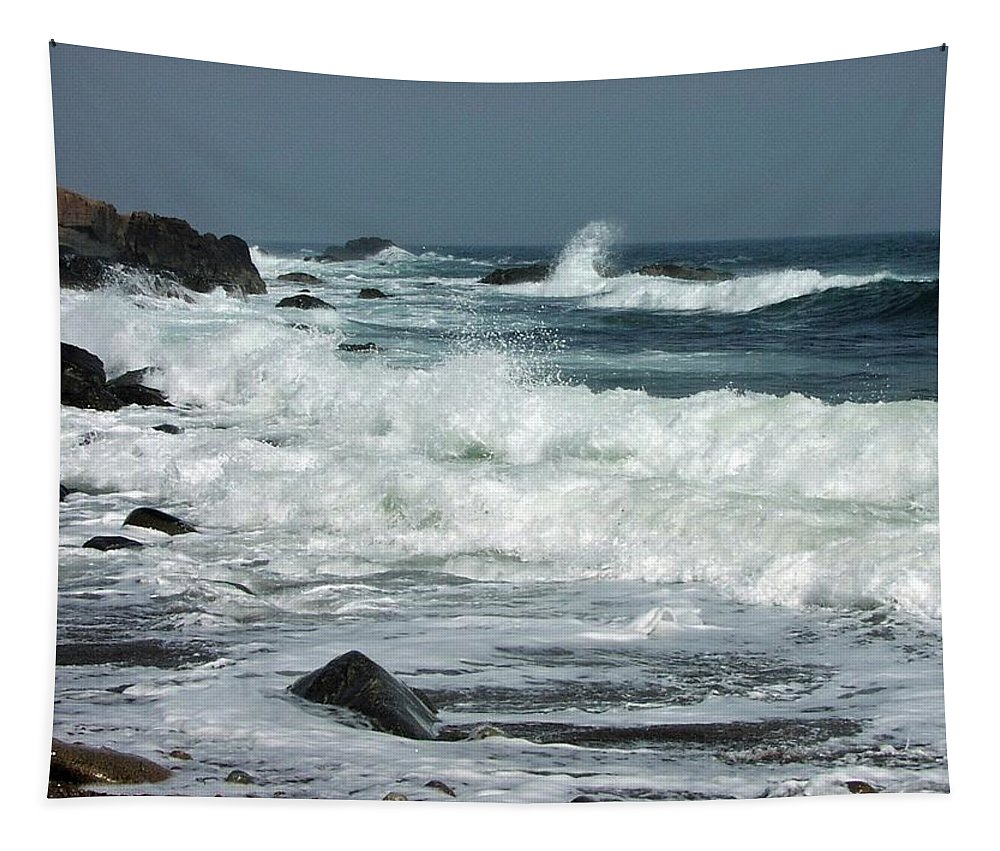 Bass Rocks Tapestry featuring the photograph Bass Rocks by Mike Martin