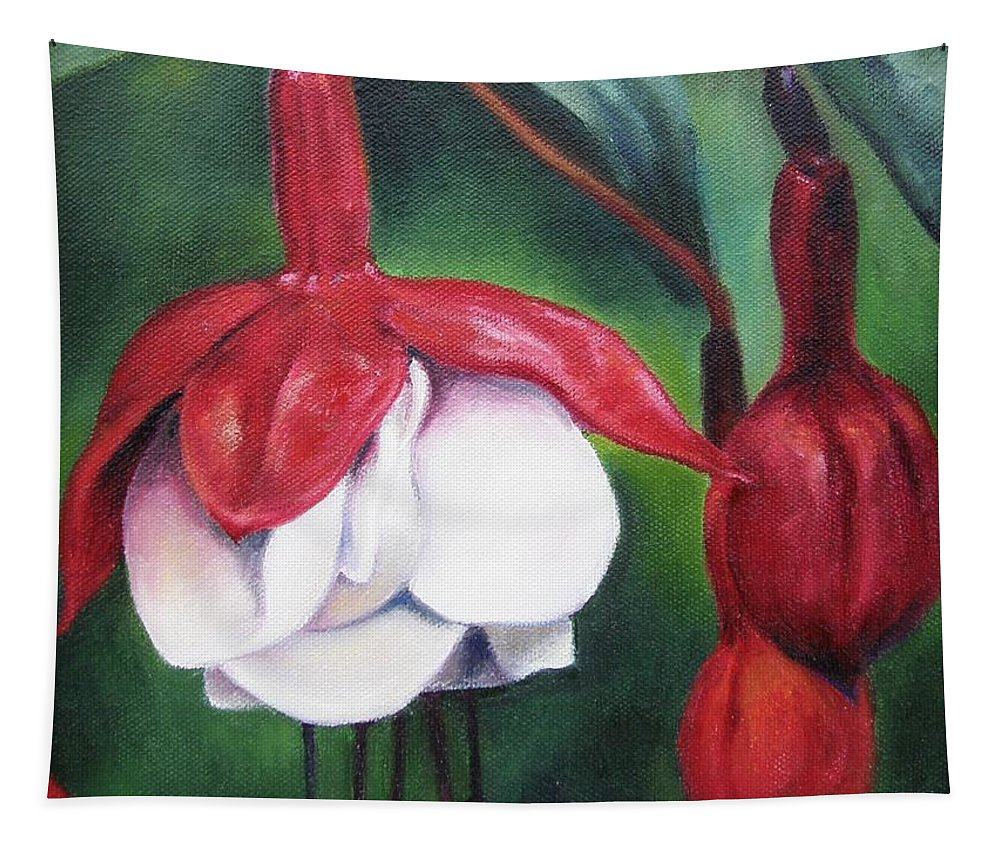 Fuchsia Tapestry featuring the painting Big Bold And Beautiful by Lori Brackett