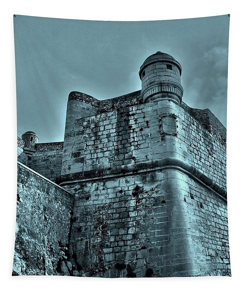 Europe Tapestry featuring the photograph Castle Of Peniscola - Spain by Juergen Weiss
